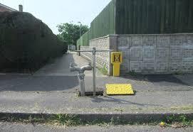 Typical underground fire hydrant arrangement